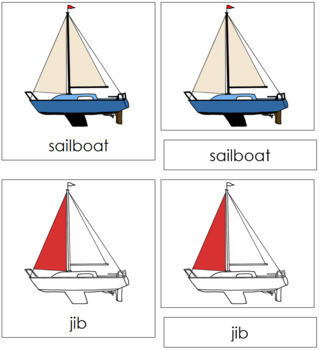 Sailboat Nomenclature Cards (Red)