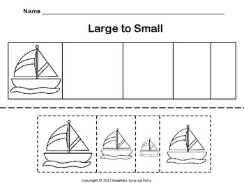Sailboat - Small to Large / Large to Small