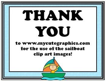 Sailboat Sticker Charts