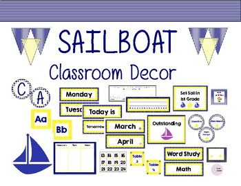 Sailboat Themed Class Decor