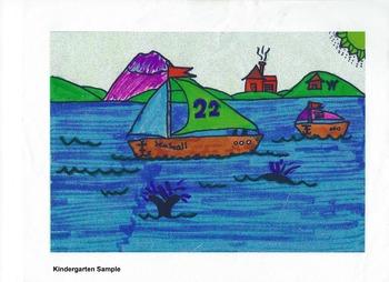 Elementary Visual Arts Project - Sailboat