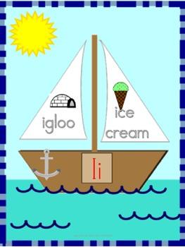 Sailboat alphabet
