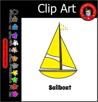 Sailboat in 12 Colors ~ Great for Ocean, Beach, Water Them