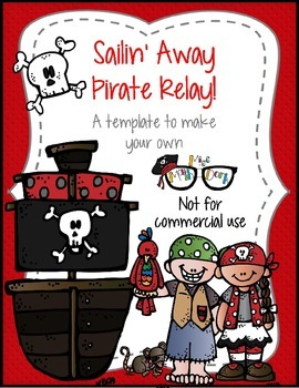 Sailin' Away Pirate Relay template - Personal Use Only!