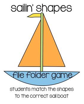 Sailin' Shapes File Folder Game