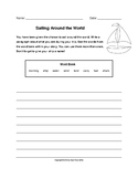 Sailing Around the World Writing Prompt (Grades 2-3)