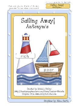 Sailing Away! - Antonym's - File Folder Game