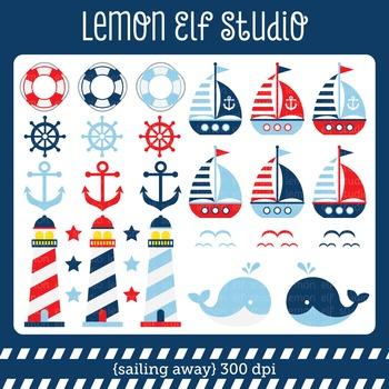 Sailing Away-Digital Clipart (LES.CL13A)