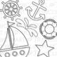 Sailing Away (Pink Set) Clip Art (Digital Use Ok!)