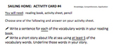Sailing Home: Activity Cards