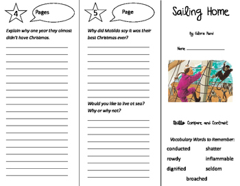 Sailing Home Trifold - Storytown 5th Grade Unit 3 Week 1