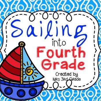 Sailing Into Fourth Grade