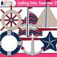 Sailing Into Summer Clip Art, Frames & Scrapbook Paper {Sailboats, Starfish} 2