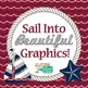 Sailing Into Summer Clip Art, Frames & Scrapbook Paper | Sailboats, Starfish 2