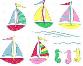 Sailing Nautical Clipart by Poppydreamz