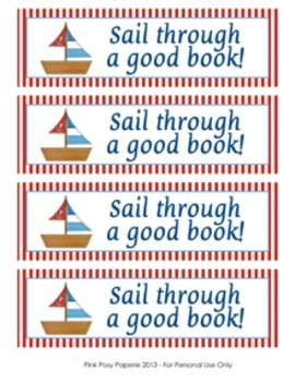 Sailing Nautical Theme Bookmarks