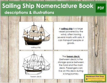 Sailing Ship Nomenclature Book
