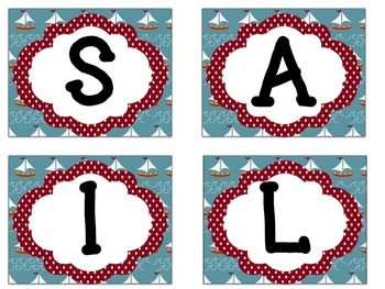 Bulletin Board Set: Sailing Themed Back To School Board