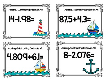 Sailing Through Decimals-Review Activities for Grades 4-5