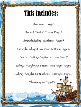 Sailing Through Our Letters and Numbers Kindergarten Handwriting