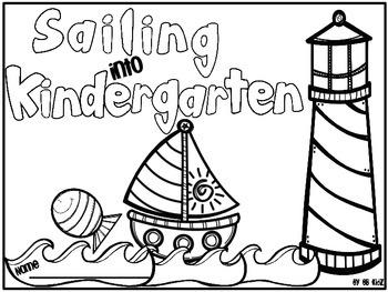 Sailing into Kindergarten booklet / Ocean / Nautical Theme