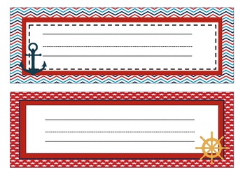 Sailing into Learning Classroom Theme Decor Pack