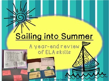 {Sailing into Summer} A Year-End Bundle Review of ELA Skills
