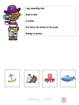 Talk Like A Pirate Day Social Skills Activities