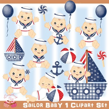 Sailor Baby 1 Clip Art Set