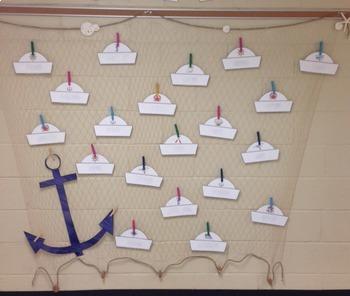 Nautical Sailor Hats Printable- Editable Text!