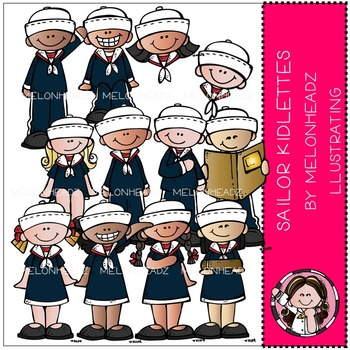 Sailor clip art - Kidlettes - COMBO PACK- by Melonheadz