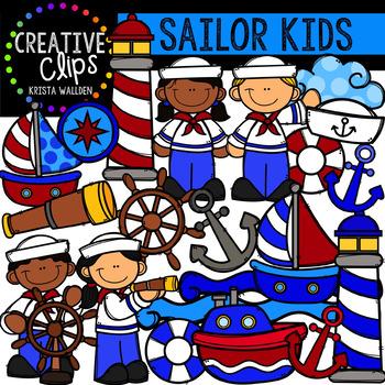 Sailor Kids Clipart {Creative Clips Clipart}