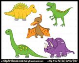 Dinosaurs 1 ClipArt - Commercial Use