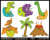 Dinosaurs 2 ClipArt - Commercial Use