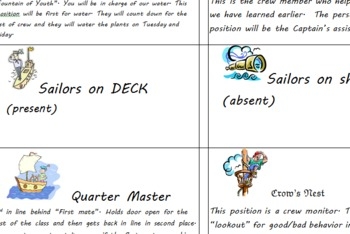 Sailor-Themed Chore Chart