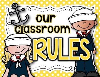 Sailor-Themed Classroom Rules Posters