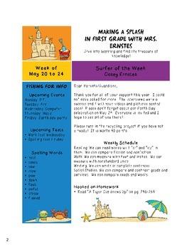 Sailor Themed Newsletter Template