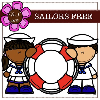 Sailors FREE Digital Clipart (color and black&white)