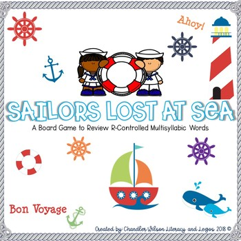 Sailors Lost at Sea Game (Multisyllabic Words with r-controlled Syllables)