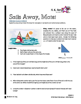 Sails Away, Mate! Grade 4 Math Perimeter Worksheet (STEM & CCSS Aligned)
