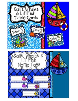 Sails, Whales and Lil' Fish Back to School Set