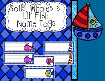 Sails, Whales and Lil' Fish Name Tags