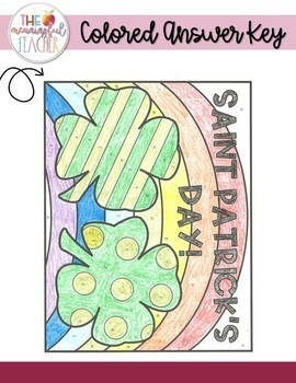 Saint Patrick's Day Integer Operations Coloring Activity