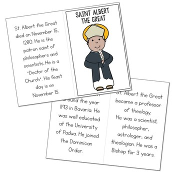 Saint Albert the Great Biography Mini Book in 3 Formats, Catholic Resources