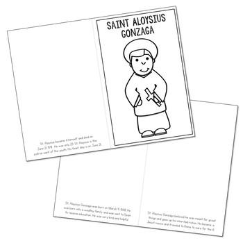Saint Aloysius Gonzaga Biography Mini Book in 3 Formats, Catholic Resources