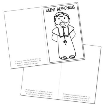 Saint Alphonsus Biography Mini Book in 3 Formats, Catholic Resources