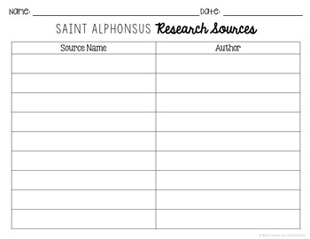 Saint Alphonsus Research Brochure Project with Interactive Notebook Pockets