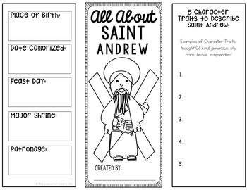 Saint Andrew Research Brochure Project with Interactive Notebook Pockets