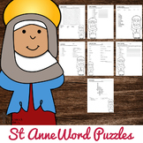 Saint Anne Word Puzzles - No Prep Catholic Activities