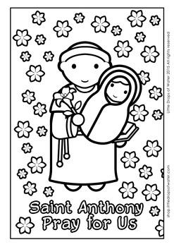 Saint Anthony Coloring - Catholic